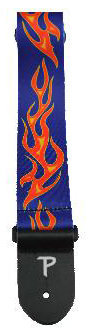 View larger image of Perri's Polyester Guitar Strap - Flames, 2