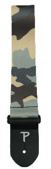 View larger image of Perri's Polyester Guitar Strap - Grey and Brown Camo, 2