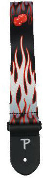 View larger image of Perri's Polyester Guitar Strap - Hot Rod, 2