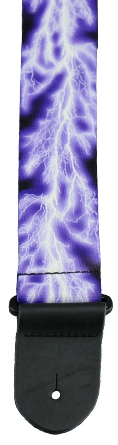View larger image of Perris Polyester Guitar Strap - Purple Lightening, 2