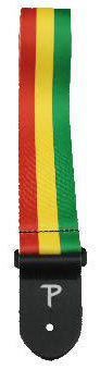 View larger image of Perri's Polyester Guitar Strap - Red, Yellow, Green Stripes, 2