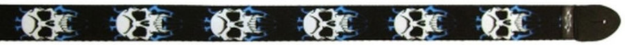 View larger image of Perri's Polyester Guitar Strap - Skull with Lightning, 2