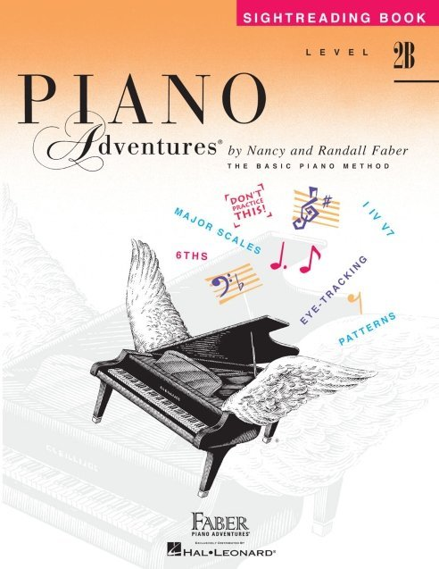 View larger image of Piano Adventures Level 2B – Sightreading Book