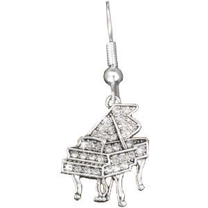 View larger image of Piano Crytsal Earrings - Rhodium