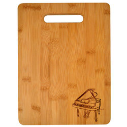 Piano Engraved Wooden Cutting Board