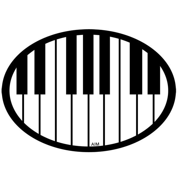 View larger image of Piano Keys Oval Magnet