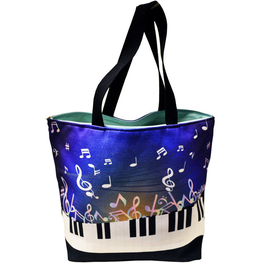 View larger image of Piano Keys Tote Bag - Bright Blue