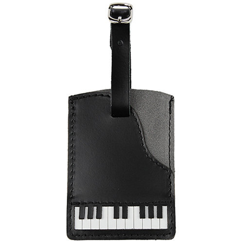 View larger image of Piano Leather/Suede Luggage Tag