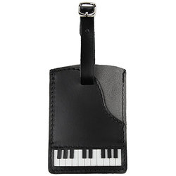 Piano Leather/Suede Luggage Tag