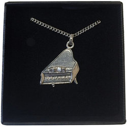 Piano Necklace - Pewter