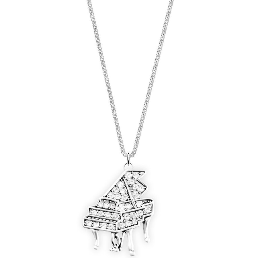 View larger image of Piano Necklace with Crystals