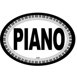 Piano Oval Magnet