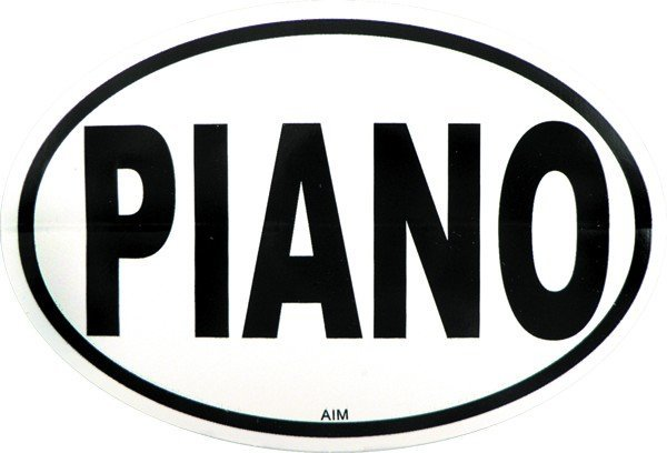 View larger image of Piano Sticker - Oval