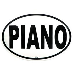 Piano Sticker - Oval