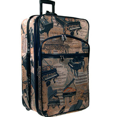 View larger image of Piano Tapestry Suitcase with Wheels - 24