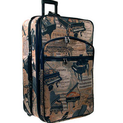 Piano Tapestry Suitcase with Wheels - 24