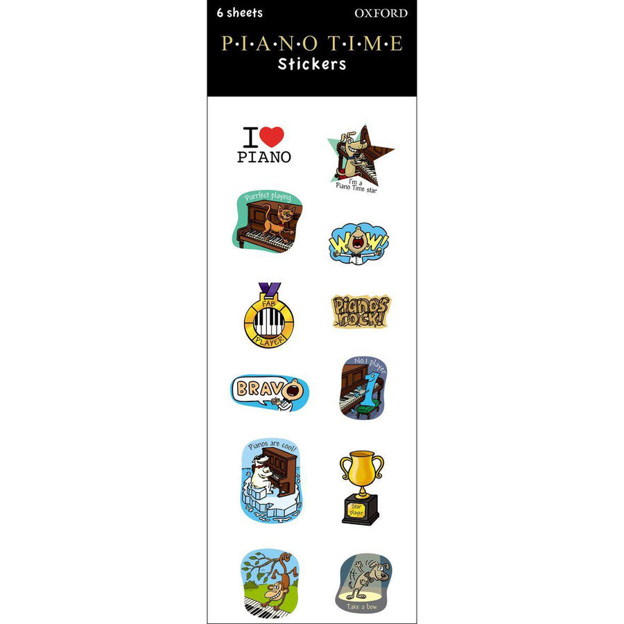 View larger image of Piano Time Stickers - 6 Pack