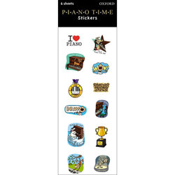 Piano Time Stickers - 6 Pack