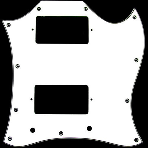 View larger image of Pickguard for Gibson SG - White, Large