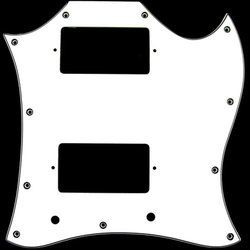 Pickguard for Gibson SG - White, Large