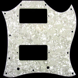 Pickguard for Gibson SG - White Pearloid, Large