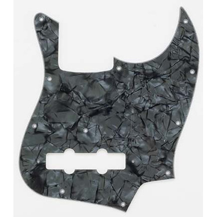 View larger image of Pickguard for Jazz Bass - Dark Black Pearloid