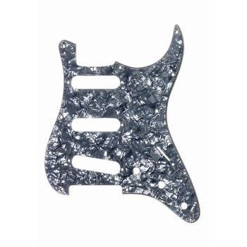 View larger image of Pickguard for Stratocaster - Black Pearloid