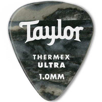 View larger image of Taylor Picks - Thermex Ultra 351, Black Onyx, 1.00 mm, 24 Pack