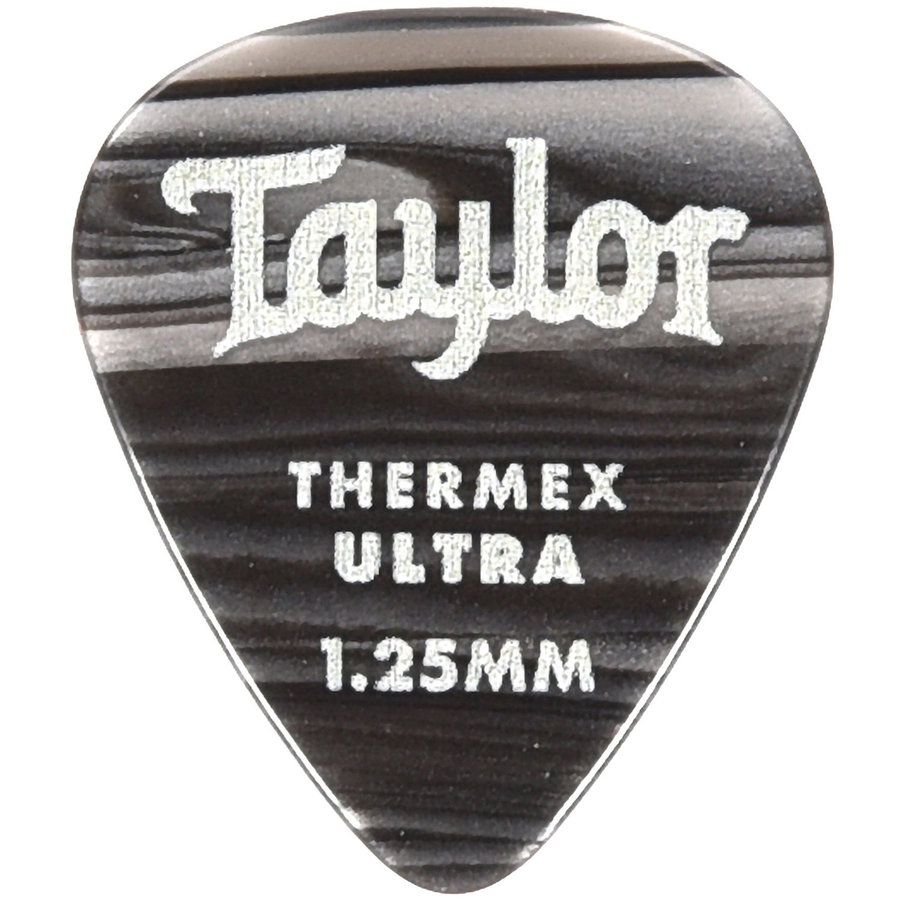 View larger image of Taylor Picks - Thermex Ultra 351, Black Onyx, 1.25 mm, 24 Pack