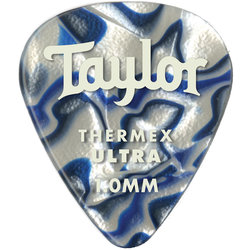 Taylor Picks - Thermex Ultra 351, Blue Swirl, 1.00 mm, 24 Pack