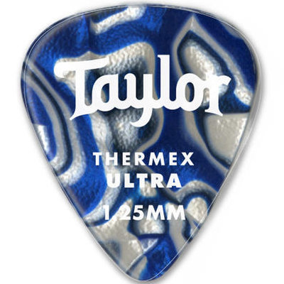 View larger image of Taylor Picks - Thermex Ultra 351, Blue Swirl, 1.25 mm, 24 Pack