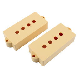 Pickup covers for Precision Bass - Cream