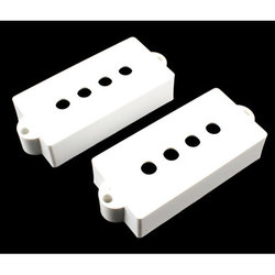 Pickup covers for Precision Bass - White