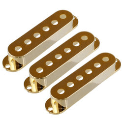 Pickup Covers for Stratocaster - Gold, 3 Pack