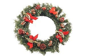 View larger image of Pine Wreath with Instruments Ornament