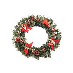 Pine Wreath with Instruments Ornament