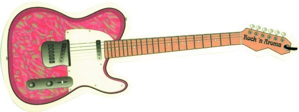 View larger image of Pink Paisley Guitar Air Freshener - Strawberry