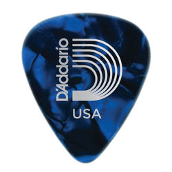 Planet Waves 1CBUP7-100 Blue Pearl Celluloid Guitar Picks - 100 pack - Extra Heavy