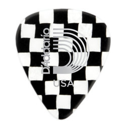 Planet Waves 1CCB2-25 Checkerboard Celluloid Guitar Picks - 25 pack - Light