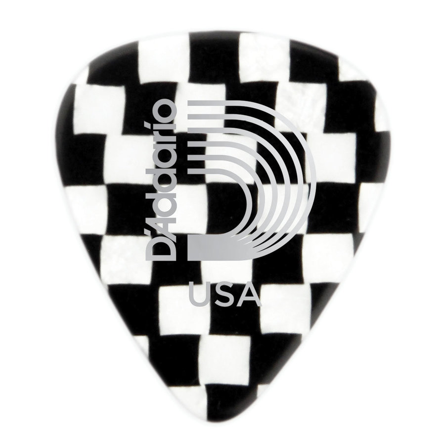 View larger image of Planet Waves 1CCB4-10 Checkerboard Celluloid Guitar Picks - 10 pack - Medium