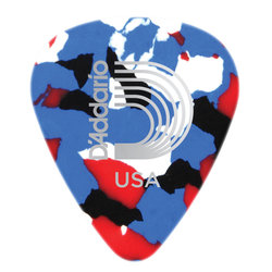 Planet Waves 1CMC7-100 Multi-Color Celluloid Guitar Picks - 100 pack - Extra Heavy