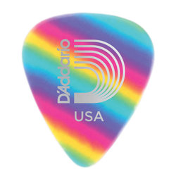 Planet Waves 1CRB4-10 Rainbow Celluloid Guitar Picks - 10 Pack - Medium