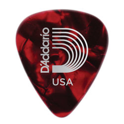 Planet Waves 1CRP6-25 Red Pearl Celluloid Guitar Picks - 25 Picks - Hevay