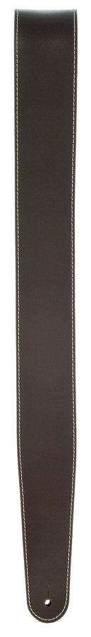 View larger image of Planet Waves 25LS01-DX Classic Leather Guitar Strap with Contrast Stitch - Brown