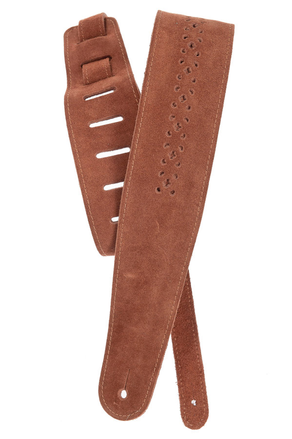 View larger image of Planet Waves 25PRF04 Vented Leather Guitar Strap - Camel Suede Rosette