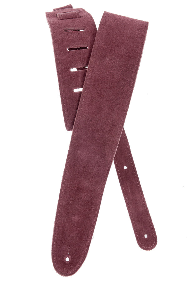 View larger image of Planet Waves 25SS03-DX Suede Guitar Strap - Burgundy