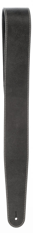 View larger image of Planet Waves 25VNSOO-DX Stonewashed Leather Guitar Strap with Contrast Stitch - Black