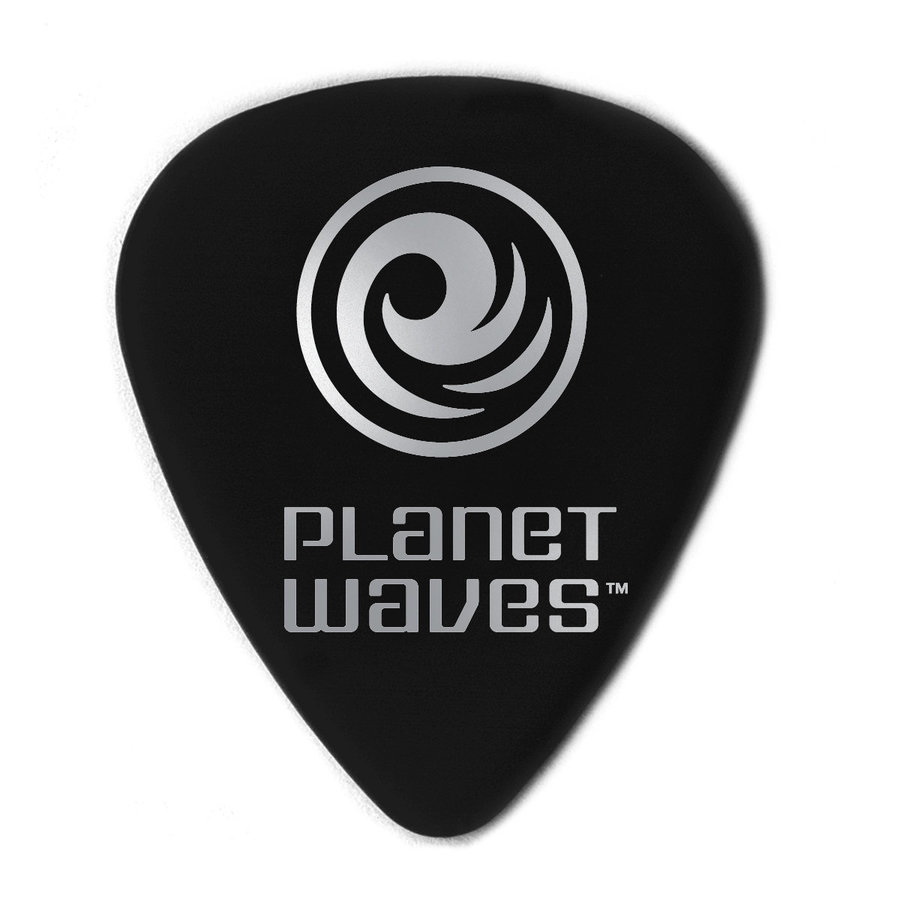 View larger image of Planet Waves ACBK7-10 Black Celluloid Guitar Picks - Extra Heavy - 10 Pack