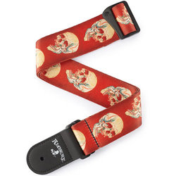 Planet Waves Alcehmy Guitar Strap - Live Life Skull