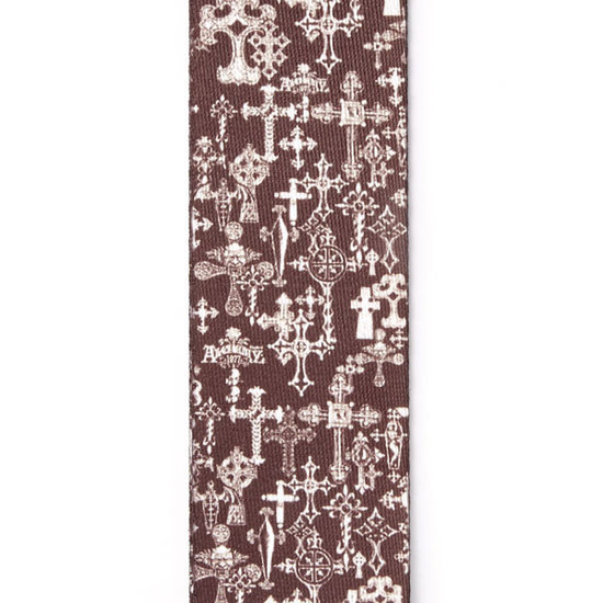View larger image of Planet Waves Alchemy Planet Lock Guitar Strap - Gothic Cross